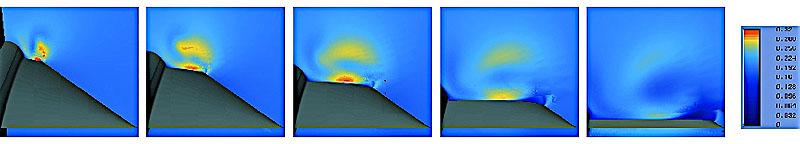 Рис. 23. Ротор вектора скорости внутри вихря над ПГО