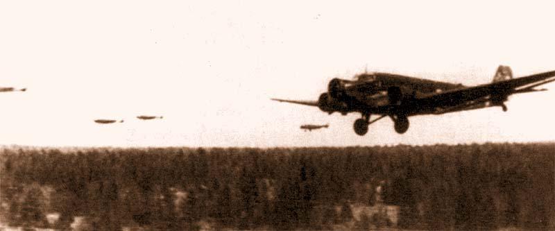 Группа Ju-52 bp KGrzbV 500 на пути в демянский «котел»