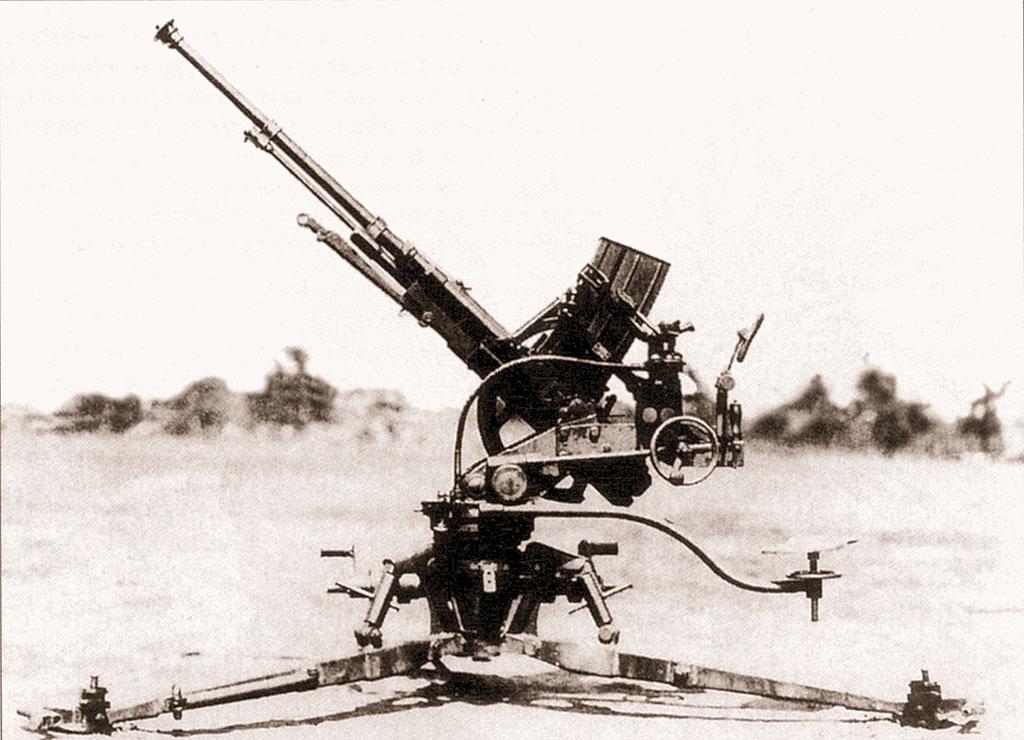 20-мм автоматическая зенитная пушка «Тип 98». В ходе боев на Халхин-Голе такие орудия использовались и как противотанковые