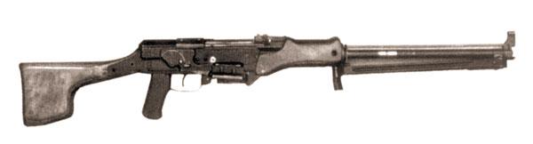 7,62-мм ручной пулемет Коробова ТКБ-523 под ленточное питание. Опытный образец (вид справа)