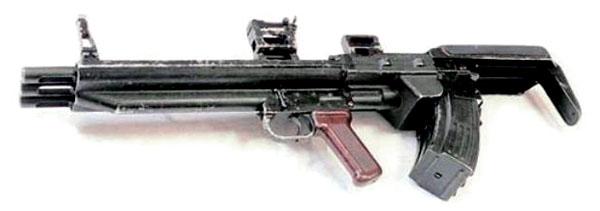Оригинальный трехствольный автомат залпового огня ТКБ-059
