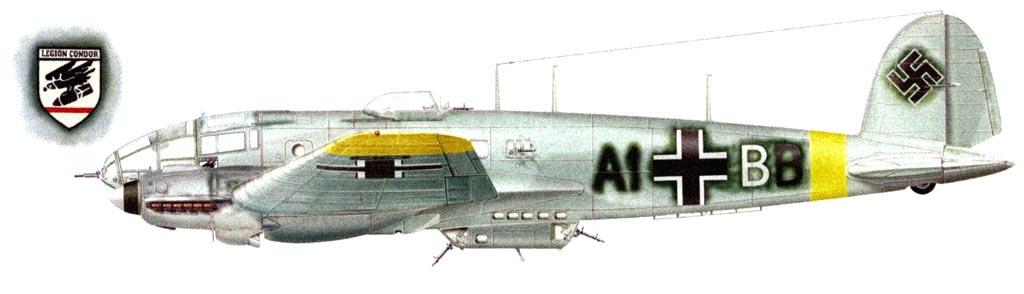 Бомбардировщик He111H-14 из состава I/KG53, сбитый советскими зенитчиками над окраиной города Великие Луки 1 января 1943 г.