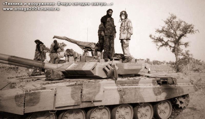 Опытный танк Т-90С №3 в пустыне Тар. Машина оснащена сварной башней.