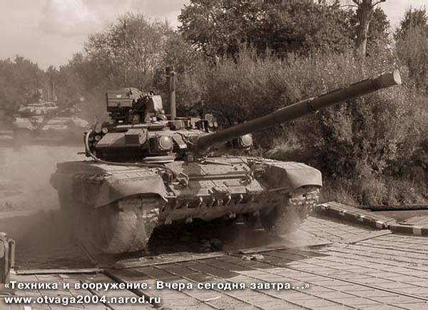 Танки Т-90А на учениях в Подмосковье