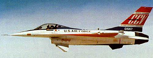 Рис. 3 F-16CCV – ЛА с непосредственным управлением боковой аэродинамической силой. Программа AFTI