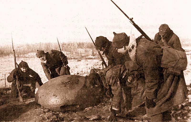 Наблюдательный бронеколпак одного из финских ДОТов. Карельский перешеек, 1940 года