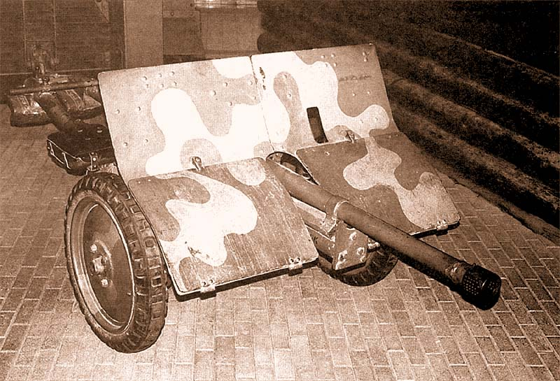 37-мм противотанковая пушка «Бофорс» в военном музее Хельсинки