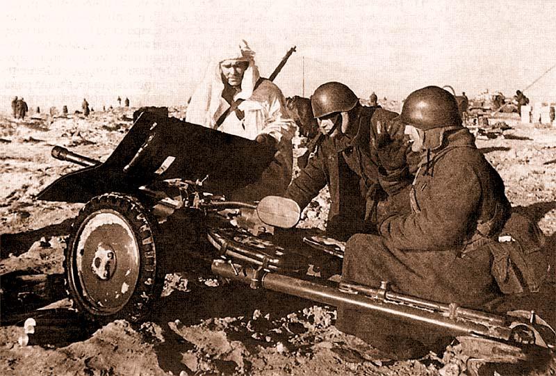 Трофейная финская 37-мм противотанковая пушка «Бофорс». Карельский перешеек, февраль 1940 года