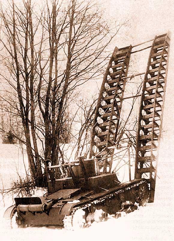 Саперный танк СТ-26. Такие машины использовались в составе 35-й легкотанковой бригады