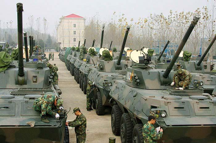 Самоходные установки PLL05 Народно-освободительной армии Китая
