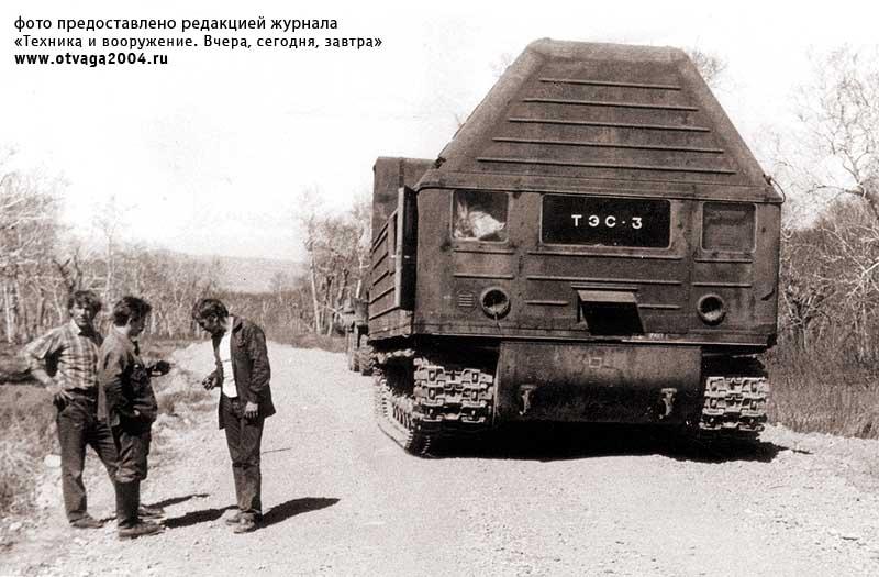 Машина комплекса ТЭС-3 на Камчатке. 1988 г.