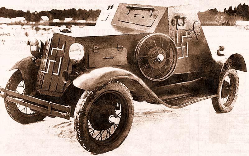 Один бронеавтомобиль Д-8 из состава 117-го отдельного разведывательного батальона 163-й стрелковой дивизии использовался финнами в качестве штабной машины аж до ноября 1943 года! На этом фото броневик запечатлен в конце 1941 года