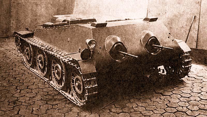 Подвижное пулеметное гнездо ППГ (объект 217) в цеху Кировского завода. Апрель 1940 года