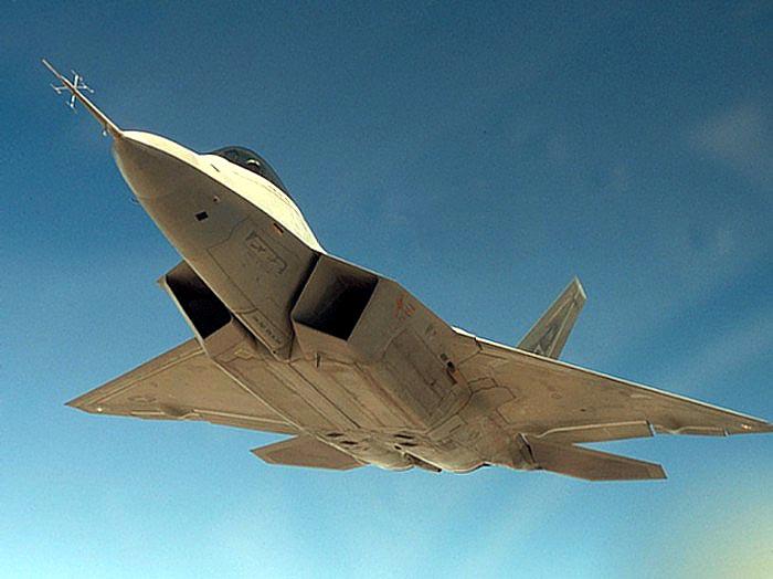 Рис. 1. Вид снизу на элементы вихреобразования F-22