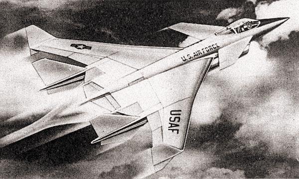 Рис. 16. Облик перспективного истребителя, разрабатывавшийся по программе HiMAT