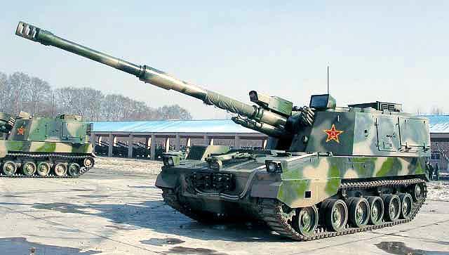 Китайская самоходная 155-мм гаубица PLZ45