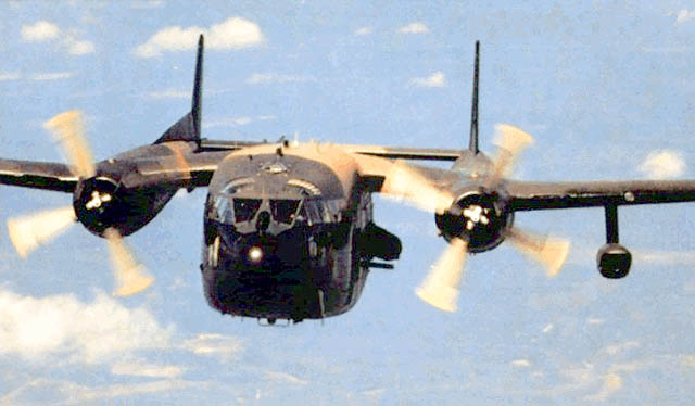 AC-119K в полете