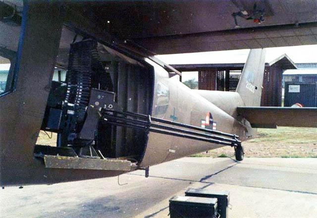 Бортовая пушка ХМ-197 самолета AU-24A