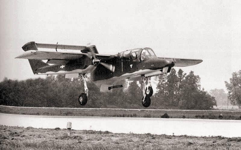 YOV-10D в первом полете