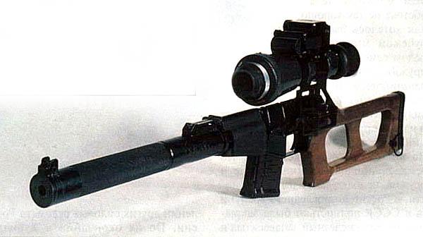"""Бесшумная снайперская винтовка """"Винторез"""" с ночным прицелом"""