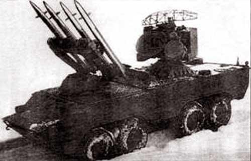 Первый вариант боевой машины ЗРК «Оса»