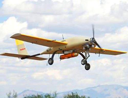 БЛА в полете с подвешенной УАБ STM Phase II