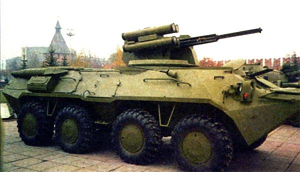 Установка боевого модуля «Кливер» на БТР-80