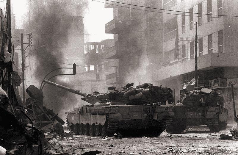 Танки «Меркава» в Ливане