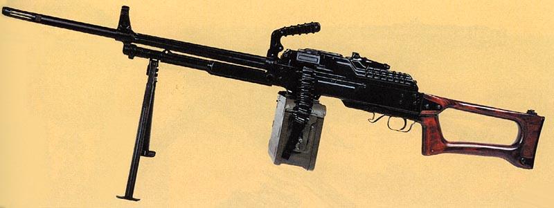 7,62-мм единый пулемет Калашникова на сошке. Ротный вариант. Опытный образец 1960 г. Первый вариант