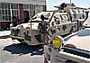 Сирийская армия в боях с боевиками использует мобильные бронированные