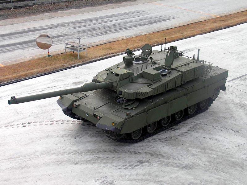 Вид на верхнюю часть башни и корпуса танка K2 (элементы ДЗ на корпусе и башне сняты)