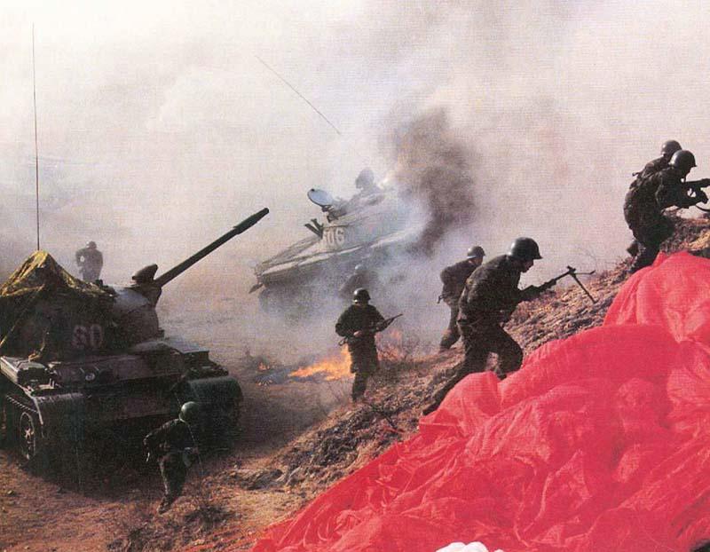Модернизированные танки «Тип 62-I» на учениях НОАК