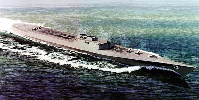 Такой корабль-арсенал разрабатывался в США