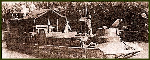 Модернизированные вьетнамцами десантные корабли LCM. Верху показан вариант с башней от американского бронеавтомобиля М8, внизу – с 40-мм пушкой в башне
