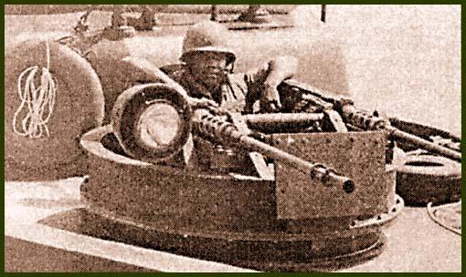 Носовая огневая точка «Пибера» – спарка из 12,7-мм пулеметов M2HB