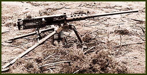 Пулемет M2HB «Browning» на треножном станке