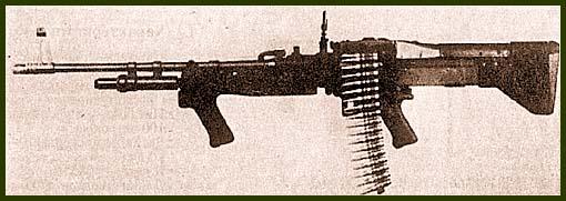 Американский единый 7,62-мм пулемет М60, широко применявшийся во Вьетнаме и армией и авиацией и флотом (сверху – модификация М60Е1, снизу – М60Е3)