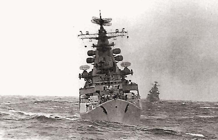 БПК пр.1134 на учениях «Океан». Северный флот, апрель 1970 г.