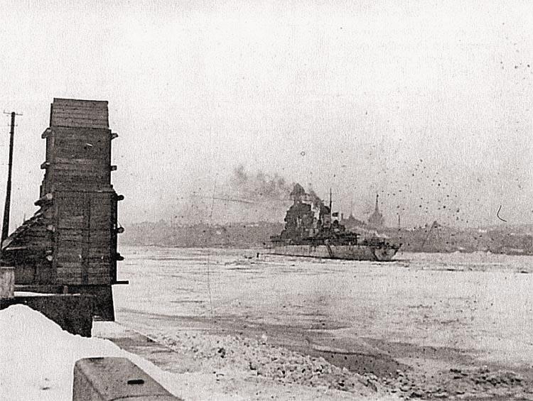 «Киров» на Неве, зима 1943/44 г.