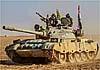 У сирийско-иракской границы китайские танки идут навстречу Т-72